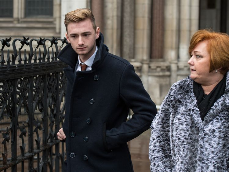 Owen Richards and mother Suzy Evans