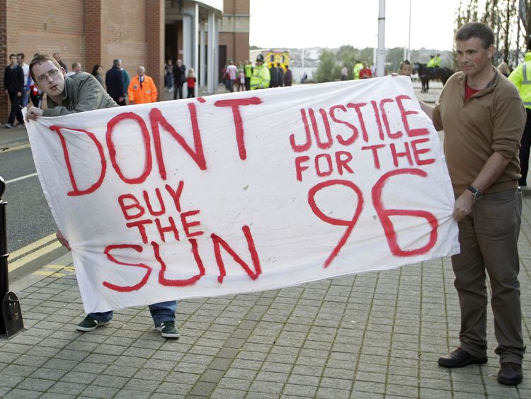 Liverpool fans have boycotted The Sun since the disaster