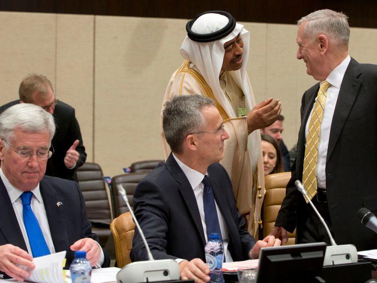 James Mattis at NATO meeting