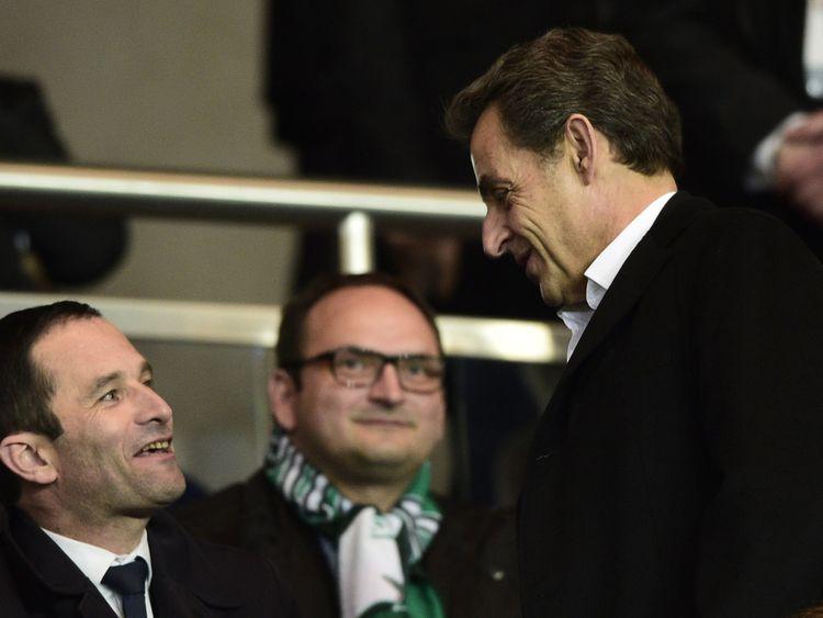 Mr Hamon accused Nicolas Sarkozy of having 'the syndrome of the small man'