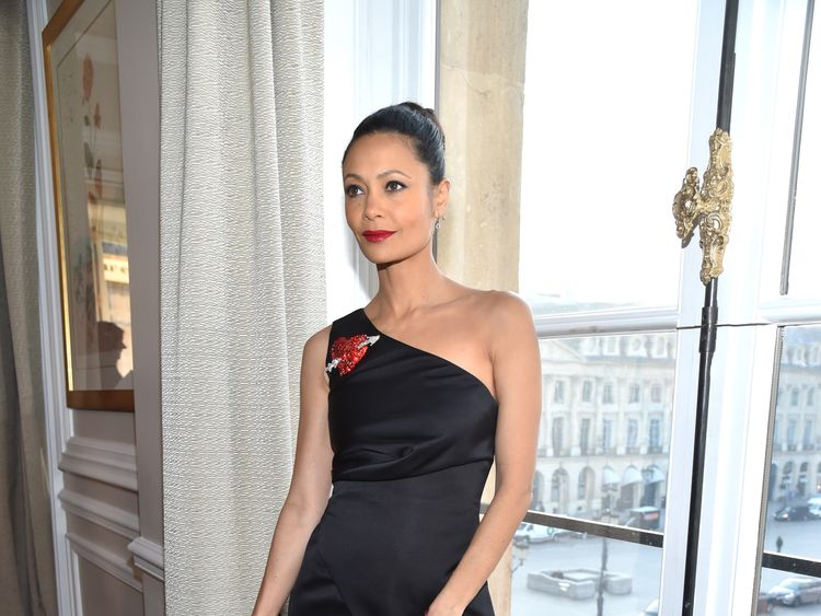 Thandie Newton is the only major cast member absent from the group photo