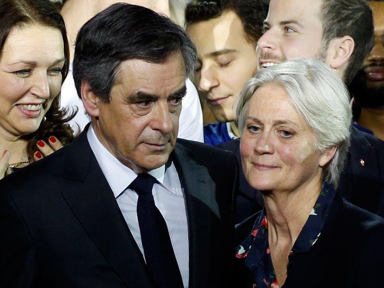 Francois Fillon and wife Penelope Fillon