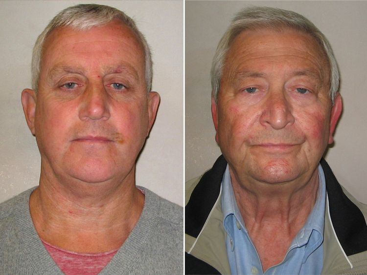 Police photos of Daniel Jones and Terry Perkins