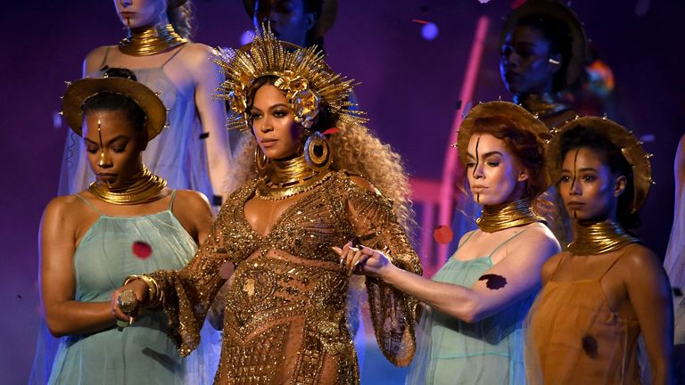 Beyonce had her first performance since announcing she is pregnant with twins