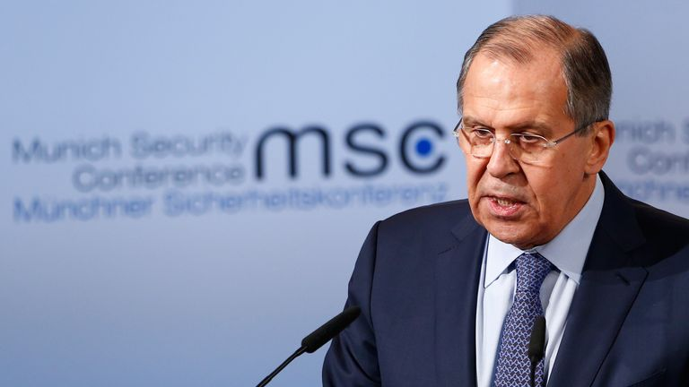 "Sergei Lavrov described the allegations as ""unsubstantiated"""