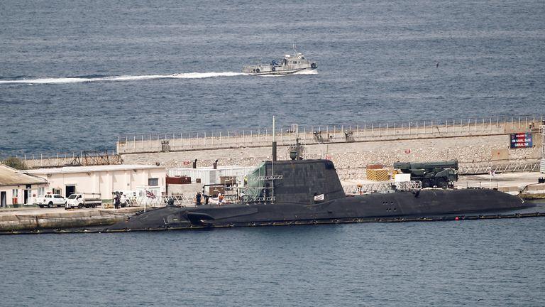 HMS Ambush docked in port in July 2016