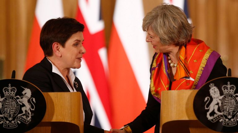 Beata Szydlo and Theresa May