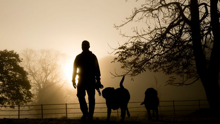 File photo of a man walking his dogs, as residents who help catch dog owners not picking up their pet's mess would not have to pay their council tax bill under new proposals to be considered in Liverpool.