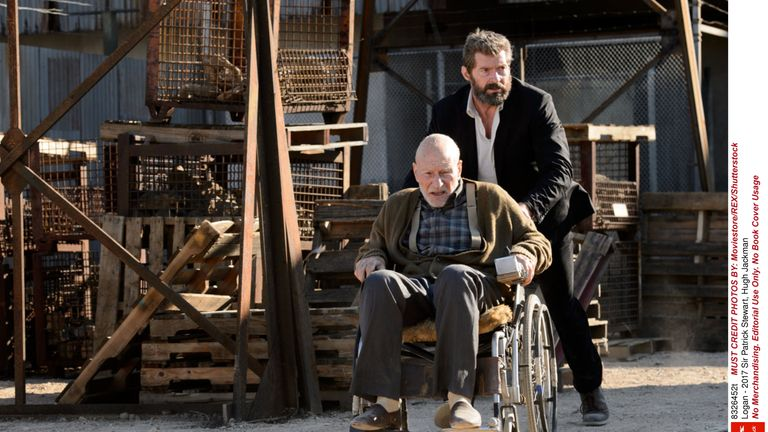 Sir Patrick Stewart and Hugh Jackman