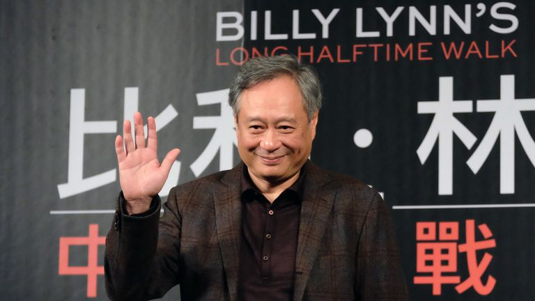 Ang Lee promotes his film 'Billy Lynn's Long Halftime Walk' in Taipei in November 2016