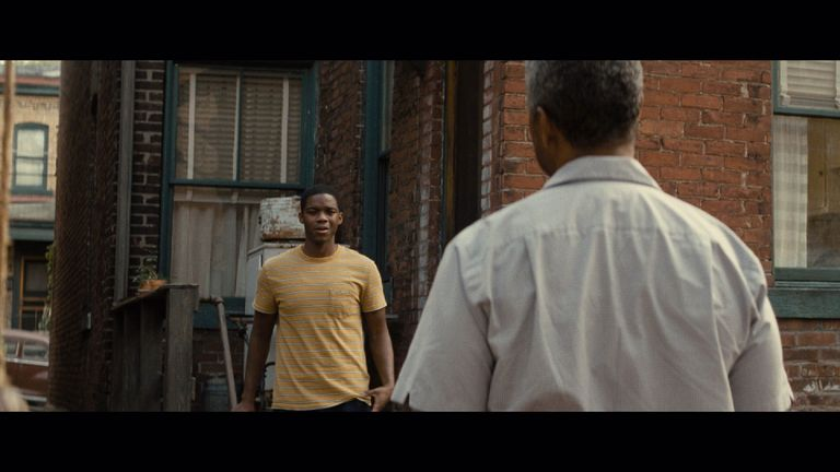 A scene in the film Fences