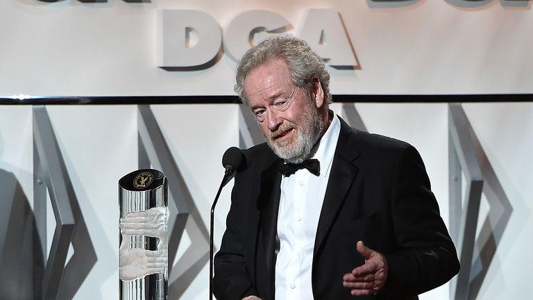 British director Ridley Scott receives the Lifetime Achievement award