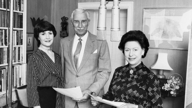 With Princess Margaret, who made a guest appearance in 1984