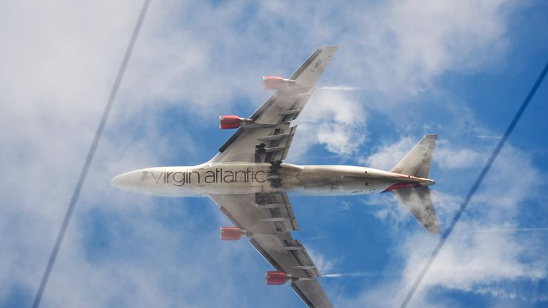 A Virgin Atlantic plane was targeted last year and had to return to Heathrow