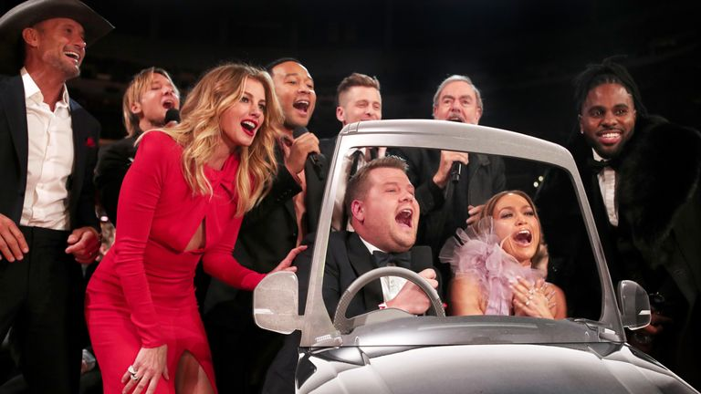 British talk show host James Corden hosted the ceremony for the first time
