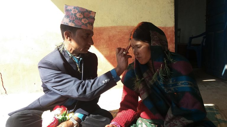 The couple married at Kalikot District Jail