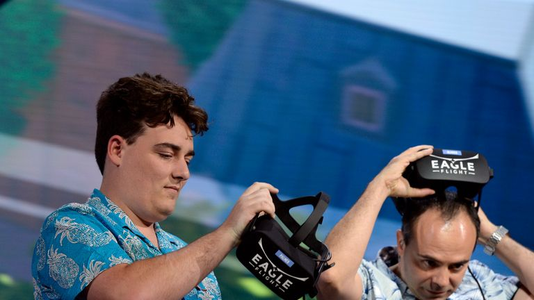 Palmer Luckey, co-founder of Oculus, at the E3 gaming event in LA last year