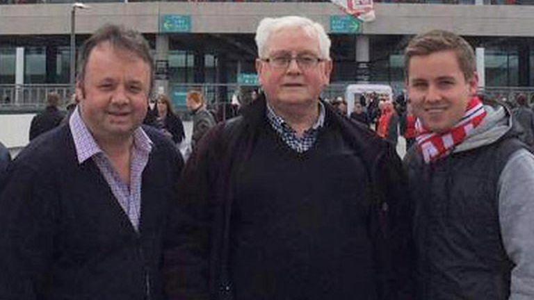 Adrian Evans (L), Charles Evans and Joel Richards
