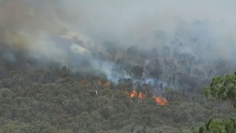 Record high temperatures  have made conditions difficult for firefighters