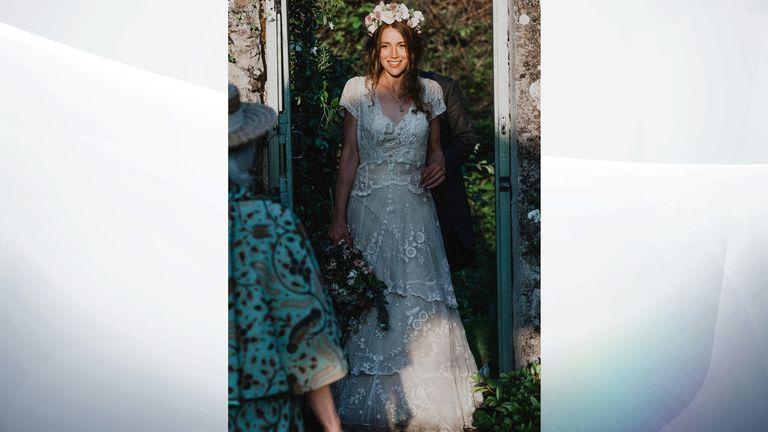 Tess Newall's wedding dress dates back nearly 150 years