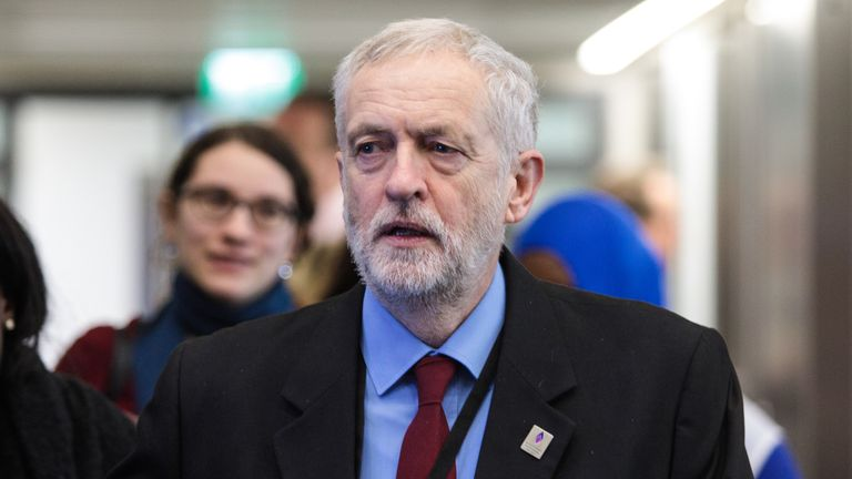 Jeremy Corbyn attends an event to mark National Holocaust Memorial Day
