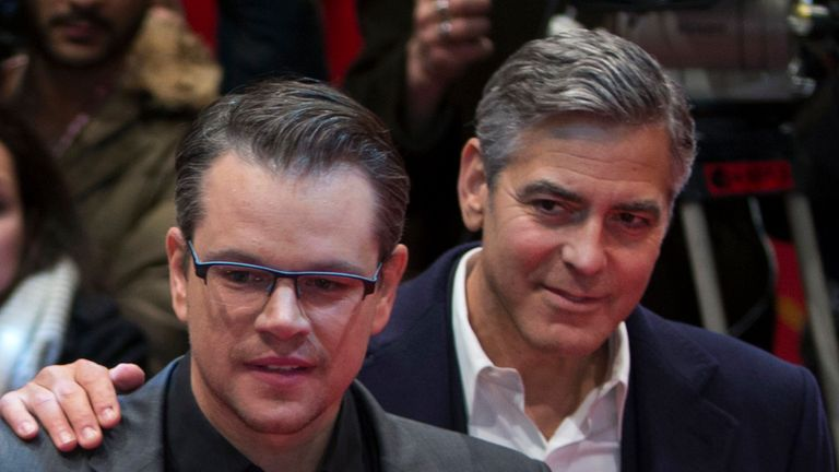 Damon and Clooney are long-time friends