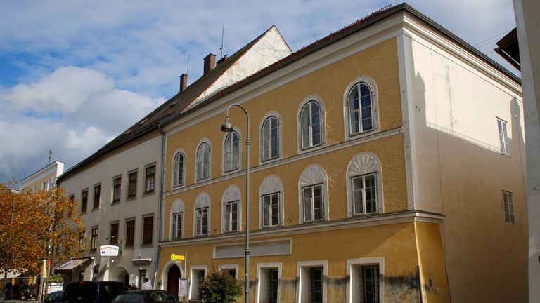 The house in which Adolf Hitler was born in Braunau am Inn, Austria
