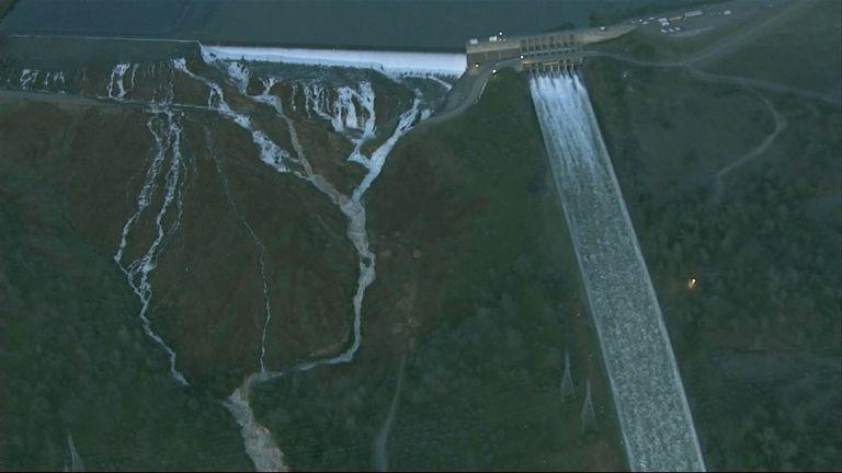 'Hazardous situation' at California dam
