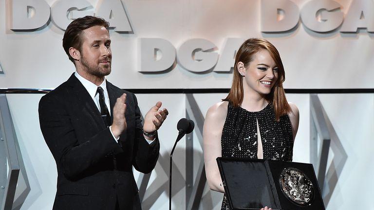 La La Land stars Ryan Gosling and Emma Stone