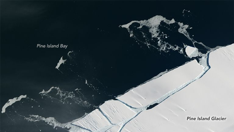 Iceberg the size of Manhattan breaks away from a glacier in Antarctica