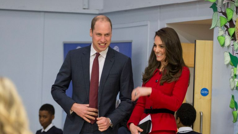 William and Kate were shown the school's 'kindness bench'