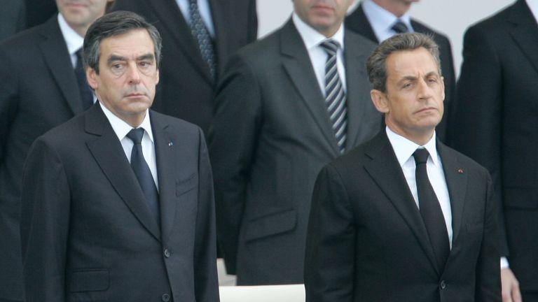 Awkward? Mr Fillon beat Nicolas Sarkozy to the Republican nomination