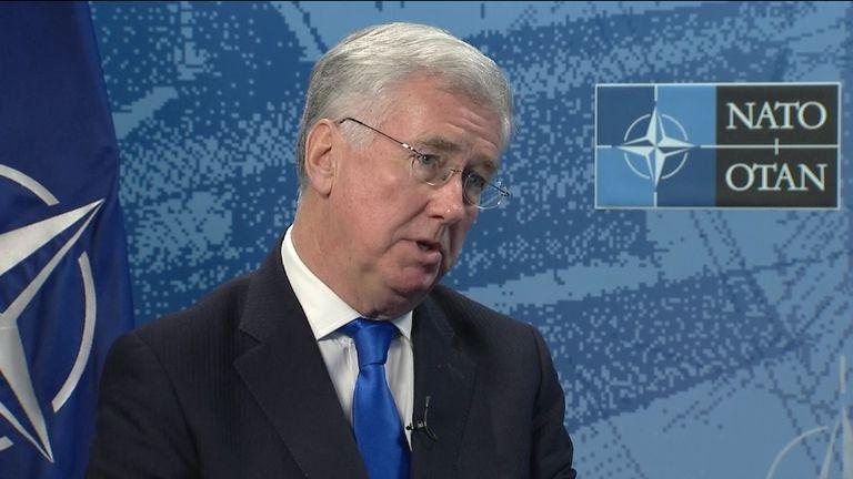 Sir Michael Fallon talks to Sky News