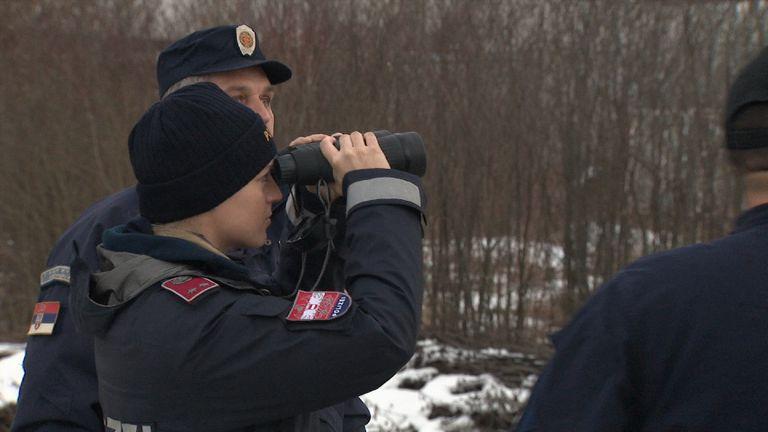 EU Austrian police in Serbia