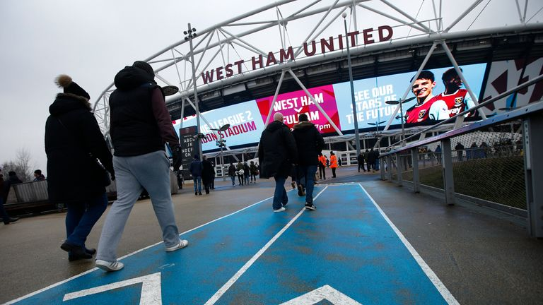 Homophobic leaflets were apparently handed out at West Ham's stadium last year