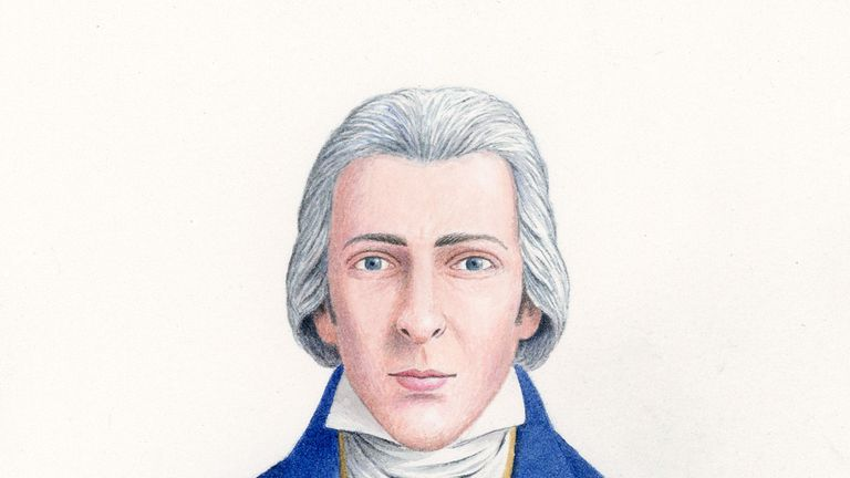 The first historically accurate drawing of Mr Darcy, created by artist Nick Hardcastle