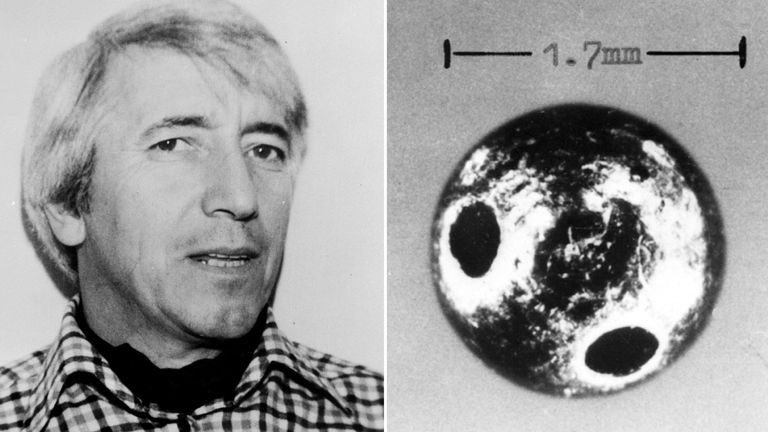 The tiny 'bullet' fired by an umbrella into Bulgarian defector Georgi Markov
