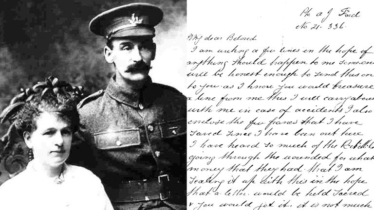 Soldiers Last Letter.Heartbreaking Letters From Wwi Soldiers Uk News Sky News