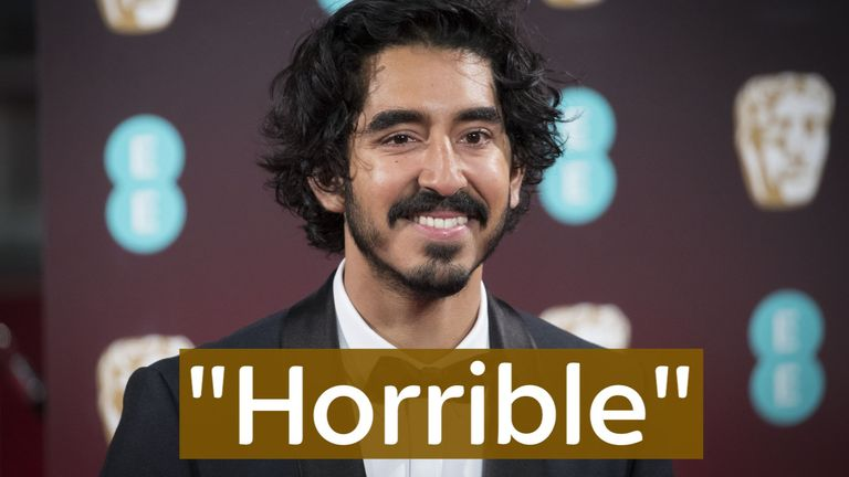 Dev Patel said that 'horrible and divisive' Trump's travel ban 'terrifies' him.