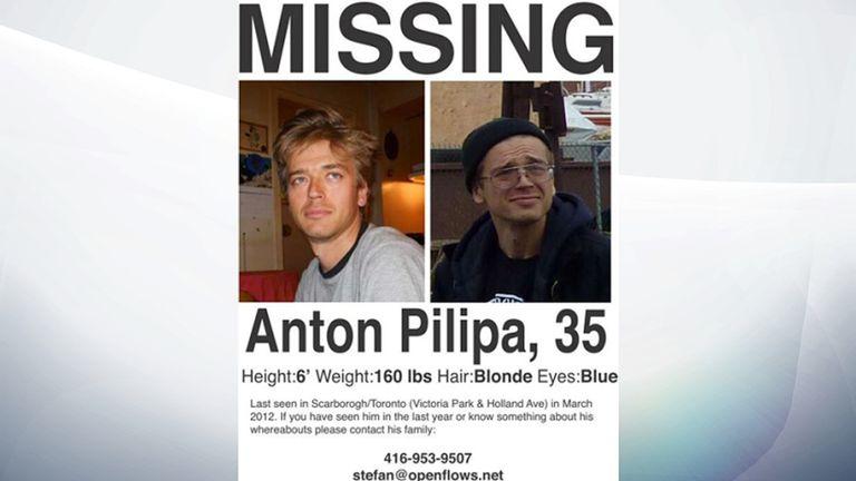 Pilipa, 39, was last seen in Canada in 2012