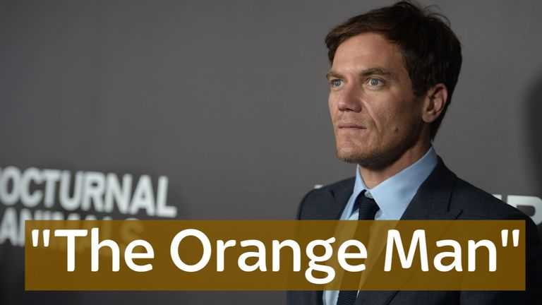 Michael Shannon said that 'if you're voting for Trump, it's time for the urn'.