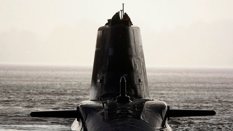 HMS Astute is currently undergoing sea trials