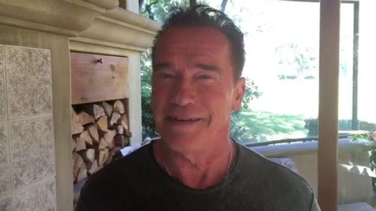 Arnold Schwarzenegger offers a job swap with Donald Trump