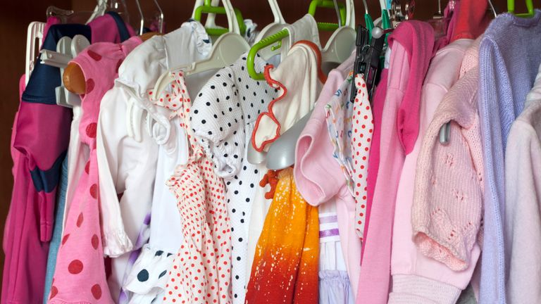 An estimated 183 million items of baby clothing are kept after the children have outgrown them