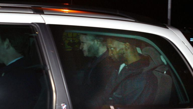Jamal al Harith leaves RAF Northolt after arriving in the UK from Guantanamo Bay