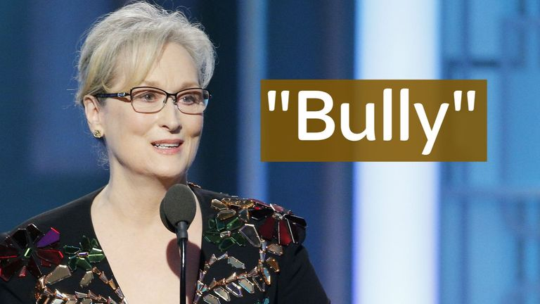Meryl Streep's Golden Globes speech in which she called Trump a 'bully' went viral online.