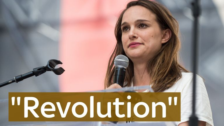 Natalie Portman attended the Women's March after Trump became President, calling it a 'revolution'.