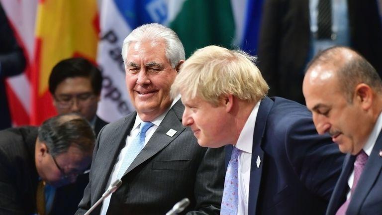 Rex Tillerson and Boris Johnson