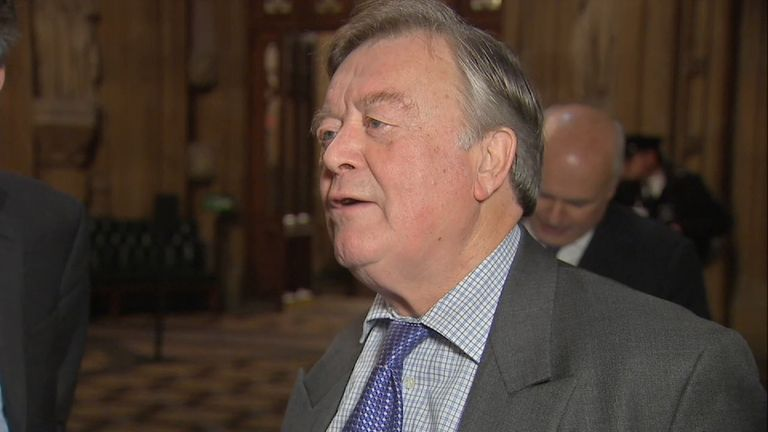 Ken Clarke reacts to parliament easily pushing through the government's Brexit Bill