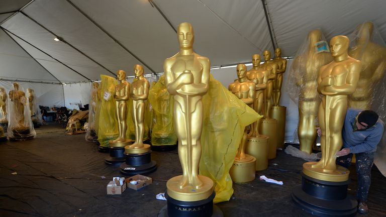 Finishing touches ahead of the Oscar ceremony